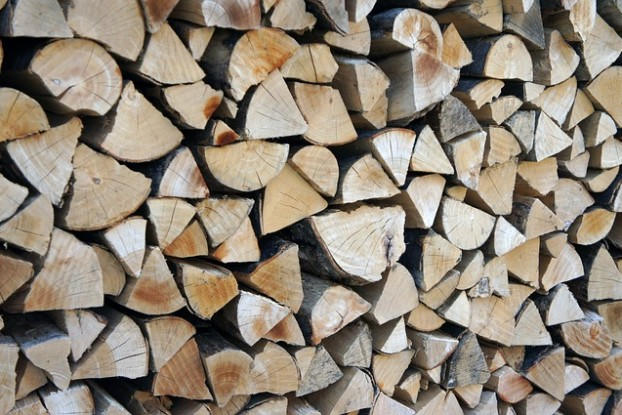 Un abri pour le bois de chauffage
