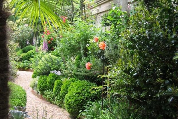 Petit jardin tout en longueur