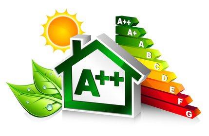 icônes symbolisant une maison écologique et peu énergivore