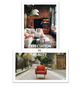 La décoration d'intérieur sous deux points de vue différents