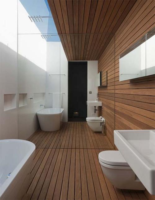 Tentez le parquet dans la salle de bain | L\'atelier de l\'habitat