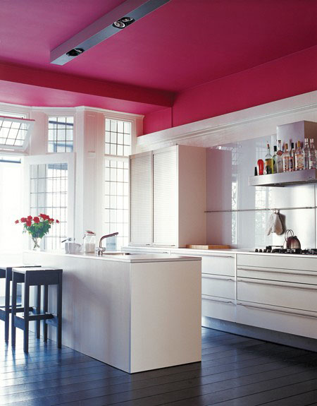 cuisine plafond coloré