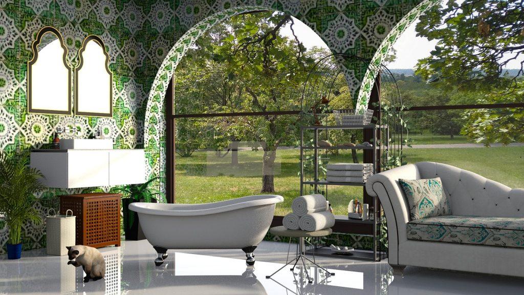 Carreaux de ciment salle de bain atelier de l'habitat